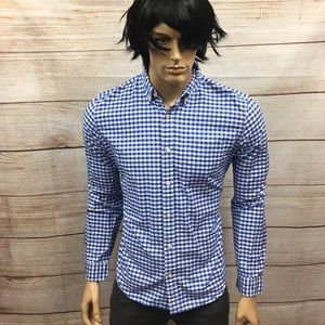 Men's Gap Designer Jeans Brand Gingham Shirt Sz M